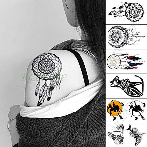 Impermeable Etiqueta Engomada del Tatuaje Temporal Indio cráneo ...