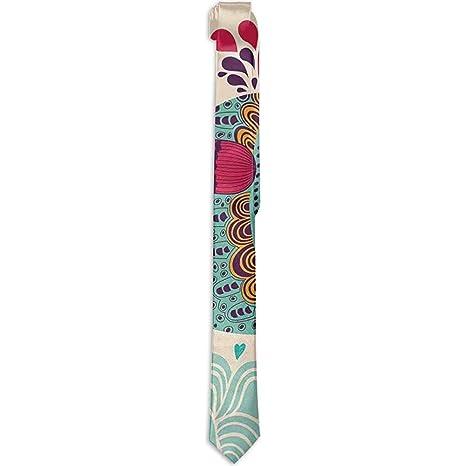 Corbata floral estampada para hombre, ballena grande de diseño ...