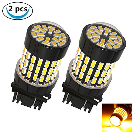 LABBYWAY 2 Pcs Super Bright 900 Lumens 3014 78-EX Chipsets,3157 3156 3056 3057LED Used For Use For Turn Signal, Corner Lights, Blinker Lights etc,Amber (Amber Passat Corner)