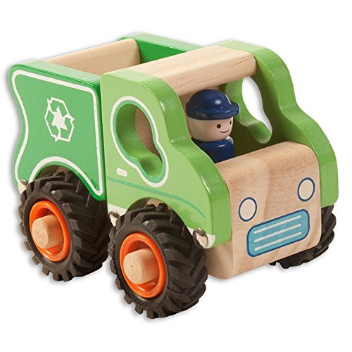 Rosalina Wooden Garbage Truck Learning Children Toy (Truck Wood Garbage)
