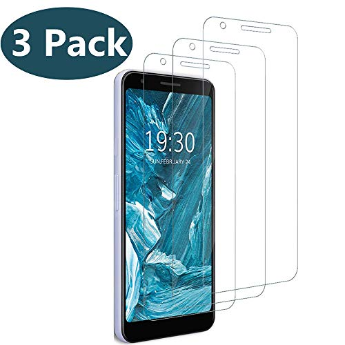 [3 Pack] Compatible with Google Pixel 3a XL Screen Protector,[Bubble Free] [Easy Installation][HD-Clear][Anti-Scratch] Tempered Glass Screen Protector Film for Google Pixel 3a XL