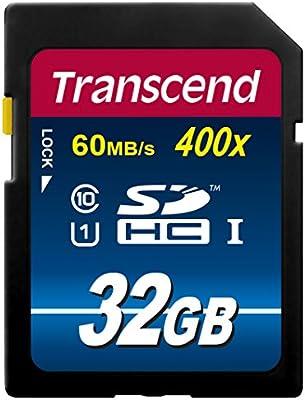 Tarjeta de Memoria Transcend TS32GUSDU1 SD 32GB Clase 10: Amazon ...