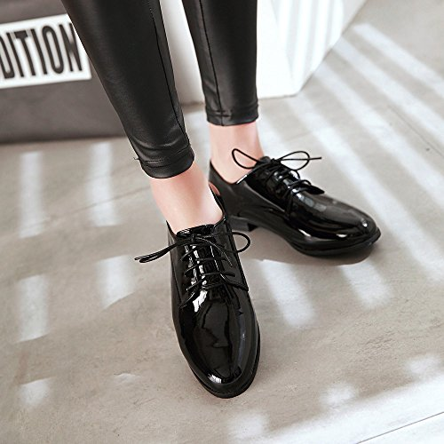 up patent leather Shoes Hecater oxford Black Lace 1 Women's Wingtip FHPgE