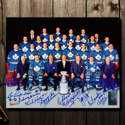 1967 Toronto Maple Leafs Stanley Cup Team Autographed - Toronto Maple Leafs Pictures
