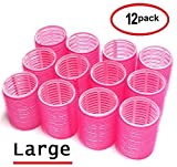 Kyпить UrbHome Large Hair Rollers, Self Grip, Salon Hairdressing Curlers,Large,(Colors May Vary) ,12 Pack на Amazon.com