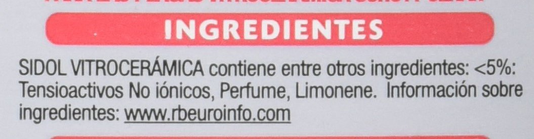 Sidol Vitrocerámicas Crema - 200 ml, paquete de 6