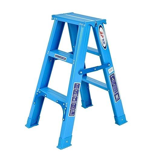 Zfggd En Espiga de Escalera 3 Pasos Escalera Plegable de Aluminio Escalera Plegable del hogar for la Familia, Taller: Amazon.es: Hogar