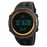 Watches Men's Digital Sport Watch Electronic LED Fashion Brand Waterproof Outdoor Casual Gold Watch