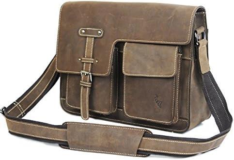 本革鞄 メンズ ショルダーバッグ 本革 PULL OF LEATHERのポケット満載の機能性 革 バッグ A4収納 929027COFFEE
