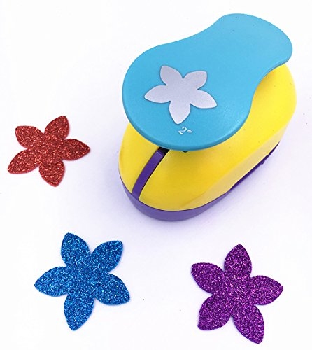 (TECH-P Creative Life 2-Inch Large Paper Craft Punch,card Scrapbooking Engraving Kid Cut DIY Handmade Hole Puncher.-Lucky Flower)