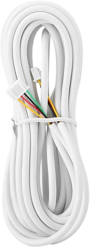 C/âbles Flexibles Ronds Blanc de 30m 0.3mm/² de 4 Noyau C/âble dInterphone Vid/éo pour Le Syst/ème dInterphone Vid/éo de Porte. C/âble en Cuivre /à 4 Conducteurs