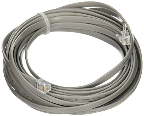 (C2G/Cables to Go 08114 RJ 12 6P6C Straight Modular Cable (25 Feet, Silver))