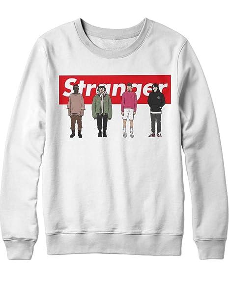 HYPSHRT Hombre Sweatshirt Stranger Team Supreme Parody C000437: Amazon.es: Ropa y accesorios