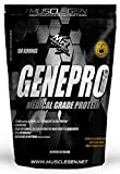 Medical Grade Protein, GENEPRO by Musclegen Research - Premium Protein for Absorption, Muscle Growth & Mix-Abilty. Gluten Free, No Sugar, Flavorless and Mixes with any Drink. 150 Servings
