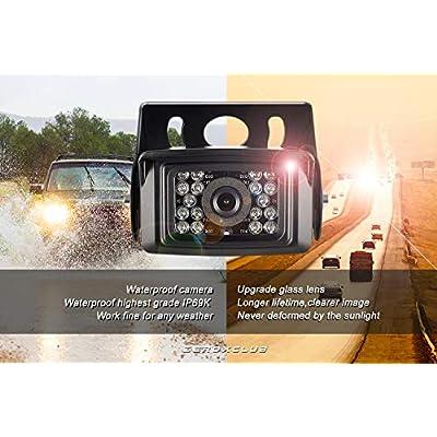 ZEROXCLUB Digital Wireless Backup Camera System Kit No Interference IP69 Waterproof Wireless Rear View Camera 7''Wireless Reversing Monitor for RV/Truck/Semi-Trailer/Box Truck (WX02): Electronics