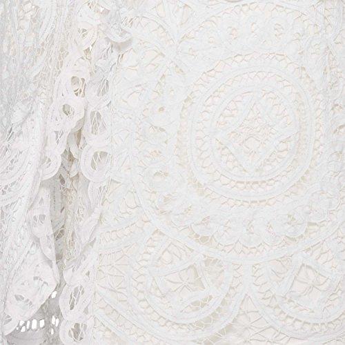 Spitzen Asilio Kleid mit hohem Damen Schulterfrei Ausschnitt aFvqw8