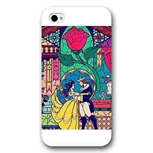 Customized White Frosted Disney Cartoon Movie Beauty and The Beast iPhone 4 4s case by Maris's Diary