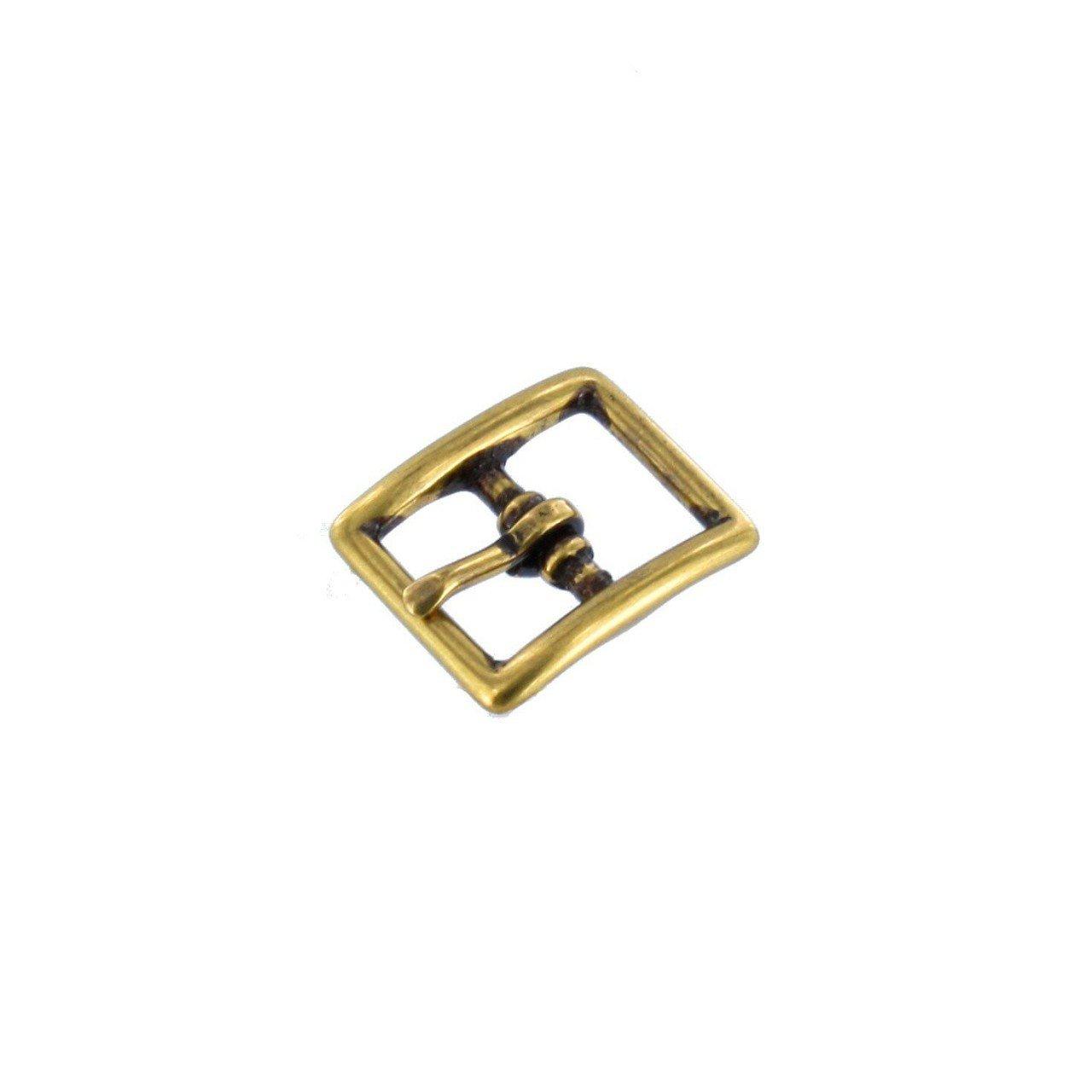 1097 1/2'' Antique Brass, Center Bar Buckle, Solid Brass-LL