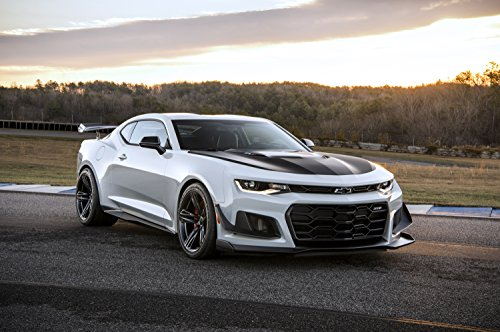 Chevrolet Camaro ZL1 1LE (2018) Car Print on 10 Mil Archival Satin Paper White/Black Front Side Static View 11
