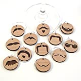 Wine Glass Charms - Mustache