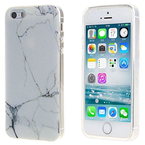 ZXLZKQ Coque pour iPhone 4 / 4SEtui Transparent Soft TPU Silicone Housse Case Protecteur Marbre motif Noir Blanc Coque pourApple iPhone 4 / 4S(non applicable iPhone 5)