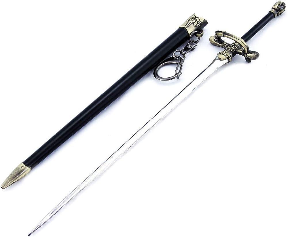 LINLUO 21 cm llavero Arya Stark aguja de coser de metal modelo de arma llavero figura de acción juguetes fiesta regalo