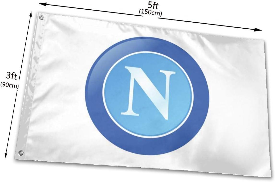 LONGJIN Drapeau Stemma Napoli Calcio 2017 91 x 152 cm 100/% Polyester translucide