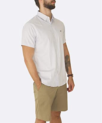 03407651bc Camisa masculina manga curta azul G  Amazon.com.br  Amazon Moda