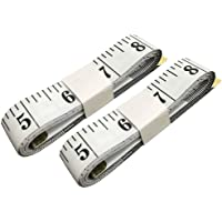 SumVibe 79 Inches/200cm Soft Tape Measure,Pocket Measuring Tape for Body Sewing Tailor Cloth Medical Measurement,White 2…