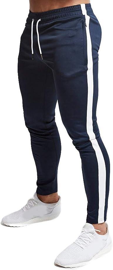 JiaMeng Pantalón de Cremallera para Hombre Pantalones Casual ...