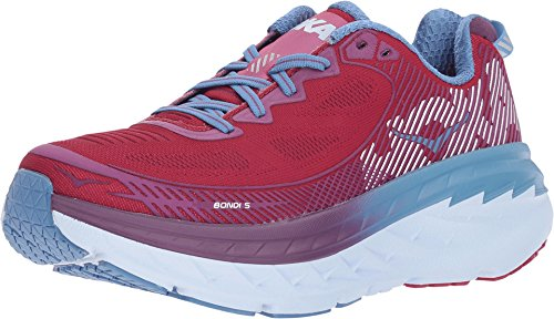 Hoka One Bondi 5 Cherries Jubilee/Purple Passion Running Shoes Womens 7