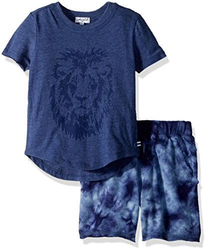 Splendid Little Boys' Tie Dye Short Set, Indigo Fade, 5/6 Boys Tie Dye Short