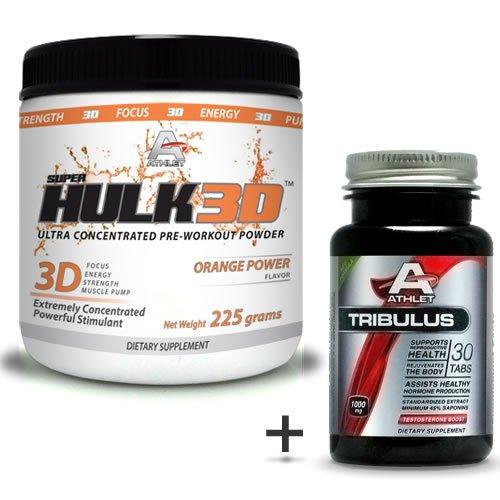 Athlet savoir Hulk3d pré-séance d'entraînement en poudre 225 gr d'Orange Power-F ocus sans Tribulus