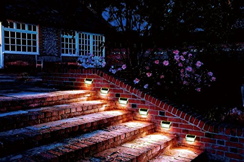 Lightess solar stair lights outdoor led step lighting 2 leds lightess solar stair lights outdoor led step lighting 2 leds stainless steel for steps paths patio aloadofball