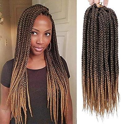 Strange Stamped Glorious 18 Inch Straight Box Braids Crochet Hair Natural Hairstyles Runnerswayorg