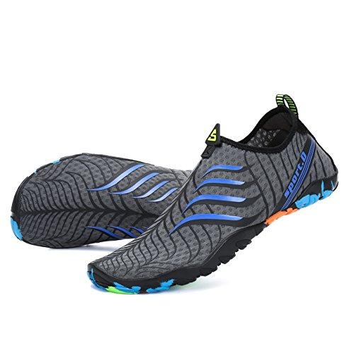 Hommes Surf Chaussures Antidérapantes Légers Respirants De Chaussons Piscine Femmes Pour Aqua Yoga Plage Natation Shoes Voovix Gris Aquatiques dZHwqPEE