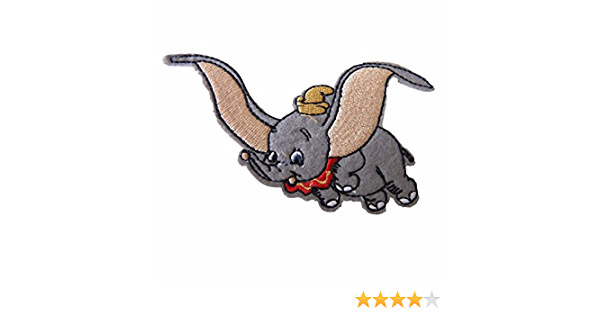 Dumbo The Elephant Patch Applique Badge Iron  Sew On Embroidered #112