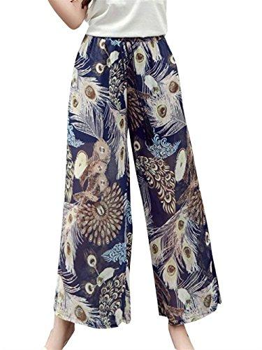 Elastica Mode Stampate Chiffon Bendare Vita Tempo Pants Floreale Baggy Larghi Pantaloni marca Estivi Pantaloni 13 Colour Donna Primaverile Libero Pantaloni Vita Eleganti di Lunga Moda Accogliente Alta qxZTavaXw
