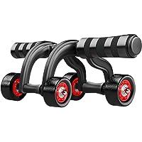 Wandofo Equipo de Fitness para el Gimnasio en casa, para ejercitar Abdominales, Reduce Lesiones, Abdominales, 4 Ruedas, para Principiantes