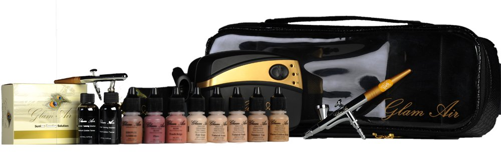 Glam Air Airbrush Makeup Machine System with 5 Light Satin Shades of Foundation (Ideal for Dry Skin) GLAM AIR INC.