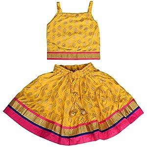 DIAMO Girl's Rayon Readymade Lehenga...
