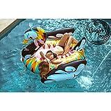 beachtoy colchón hinchable cisne Design flotador gigante 2 – 3 personas 190 x 190 x 130