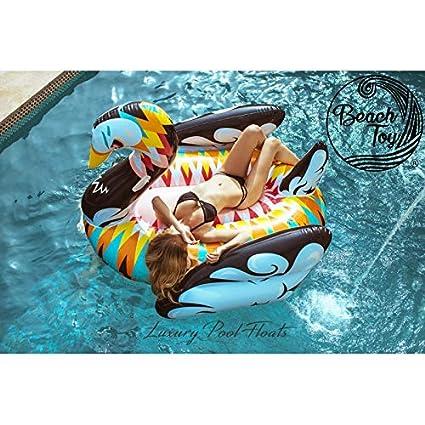 beachtoy colchón hinchable cisne Design flotador gigante 2 - 3 ...