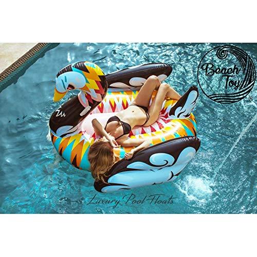 beachtoy colchón hinchable cisne Design flotador gigante 2 - 3 personas 190 x 190 x 130 cm, tamaño gigante: Amazon.es: Belleza