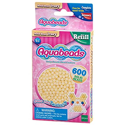 AQUA BEADS Aquabeads 32628 Solid Bead Pack - Ivory: Toys & Games