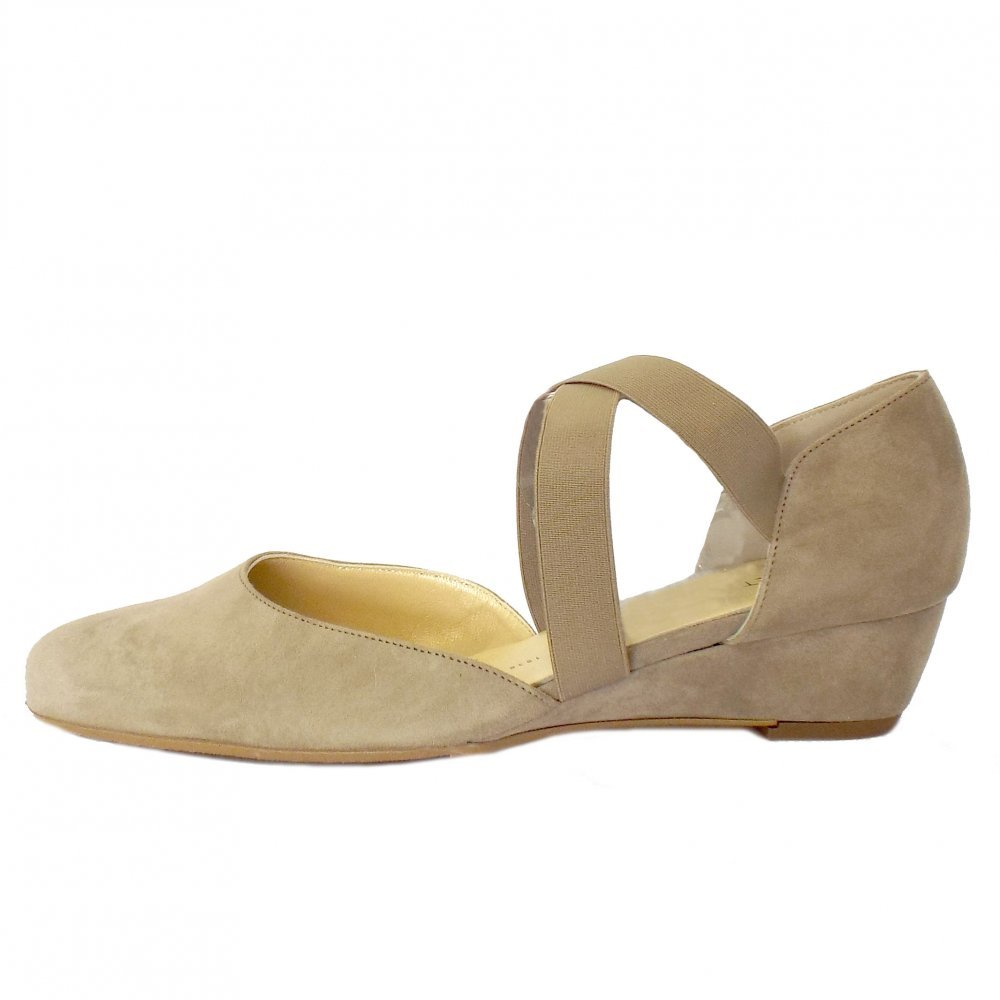 5c1c33f2c27 Peter Kaiser Jaila Ladies Low Wedge Shoes in Taupe Suede TAUPE SUEDE 9   Amazon.co.uk  Shoes   Bags