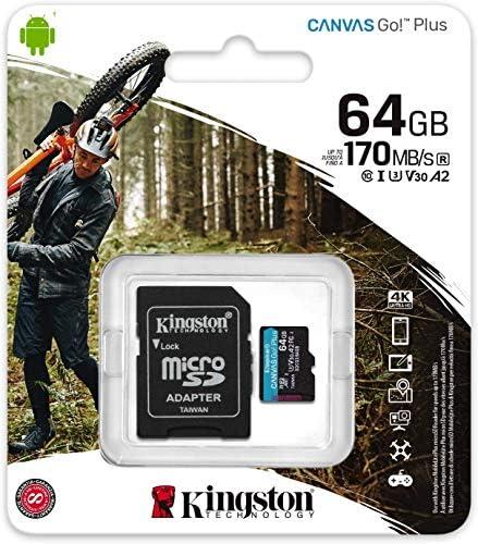 Kingston GO! Plus Works for ROKU Ultra 64GB MicroSDXC Canvas Card Verified via SanFlash. (170MBs Works with Kingston)