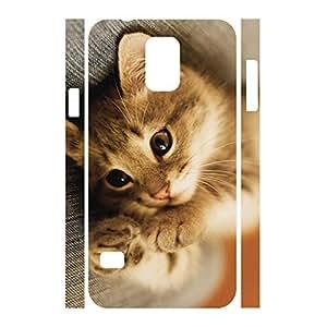 Advanced Custom Animal Series Cat Pattern Phone Accessories Skin for Samsung Galaxy S5 I9600 Case