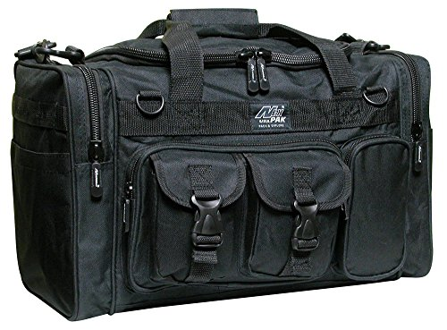 "18"" Mens Military Molle Tactical Gear Duffle Range Shoulder Strap Travel Bag TF118 BK Black"