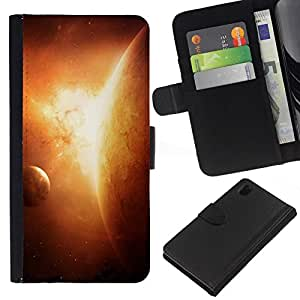 All Phone Most Case / Oferta Especial Cáscara Funda de cuero Monedero Cubierta de proteccion Caso / Wallet Case for Sony Xperia Z1 L39 // Planets In Space